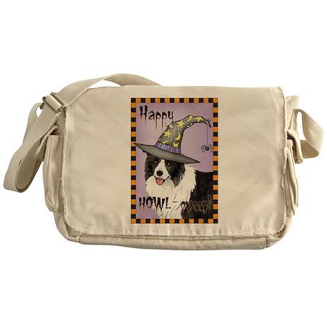 Halloween Border Collie Messenger Bag