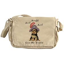 Yorkie Pirate Messenger Bag