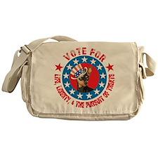 Vote for Min Pin Messenger Bag