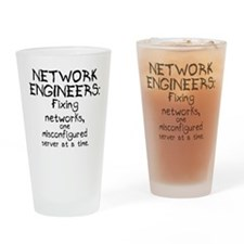 Network Engineers Drinking Glass