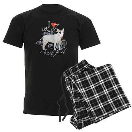 Bull Terrier Men's Dark Pajamas