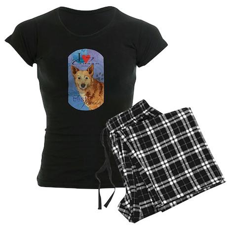 Canaan Dog Women's Dark Pajamas