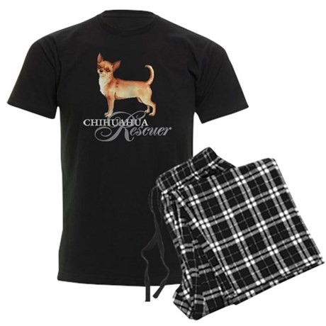 Chihuahua Rescue Men's Dark Pajamas
