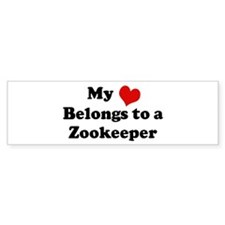 Heart Belongs: Zookeeper Bumper Bumper Sticker