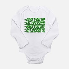 Rick Roll'd Long Sleeve Infant Bodysuit