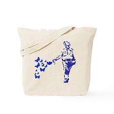 Pepper Spray Cop Butterflies Tote Bag