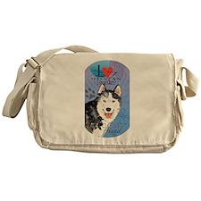 Siberian Husky Messenger Bag