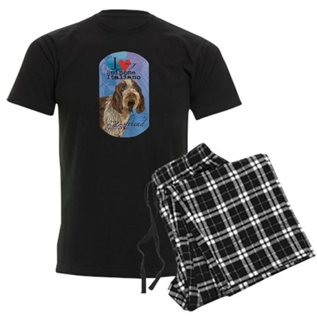 Spinone Italiano Men's Dark Pajamas