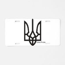 Tryzub Aluminum License Plate