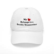 Heart Belongs: Braille Transc Baseball Cap