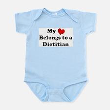 Heart Belongs: Dietitian Infant Creeper