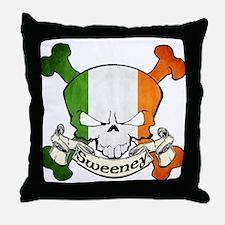 Sweeney Skull Throw Pillow