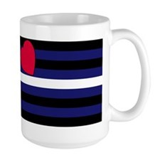 Leather Pride Flag Mug(Right handed)