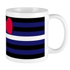 Leather Pride Flag Mug (Right handed)