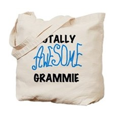 Blue Awesome Grammie Tote Bag