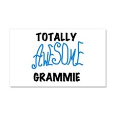 Blue Awesome Grammie Car Magnet 20 x 12