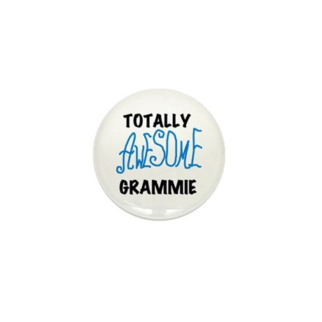 Blue Awesome Grammie Mini Button