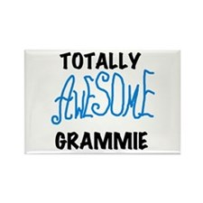 Blue Awesome Grammie Rectangle Magnet