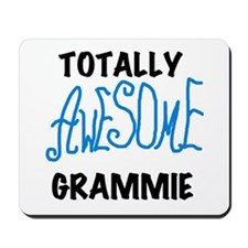 Blue Awesome Grammie Mousepad