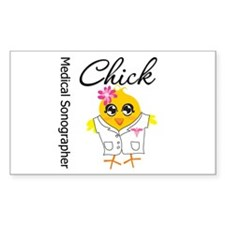 Medical Sonographer Chick Decal