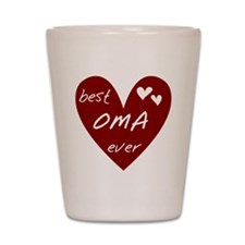 Heart Best Oma Ever Shot Glass
