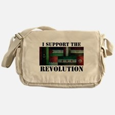 I Support the Arab Revolution Messenger Bag