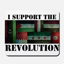 I Support the Arab Revolution Mousepad