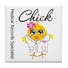 Medical Social Worker Chick Tile Coaster