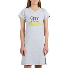 Gray Is The New Blonde Women's Nightshirt