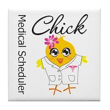 Medical Scheduler Chick Tile Coaster