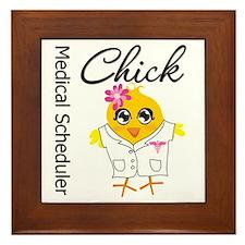 Medical Scheduler Chick Framed Tile