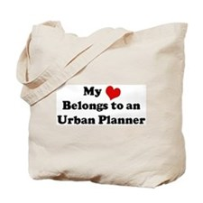 Heart Belongs: Urban Planner Tote Bag