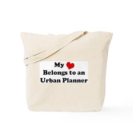 Heart Belongs: Urban Planner Tote Bag