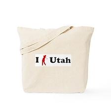 I Golf Utah Tote Bag