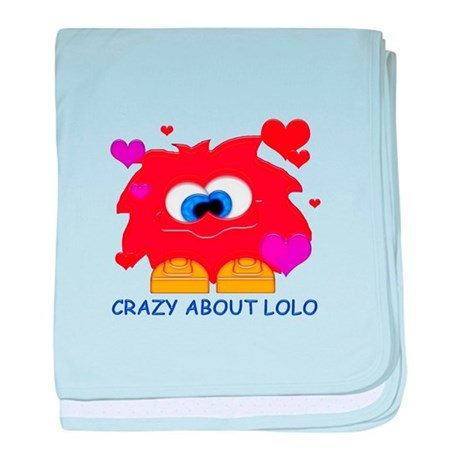 Crazy About Lolo baby blanket