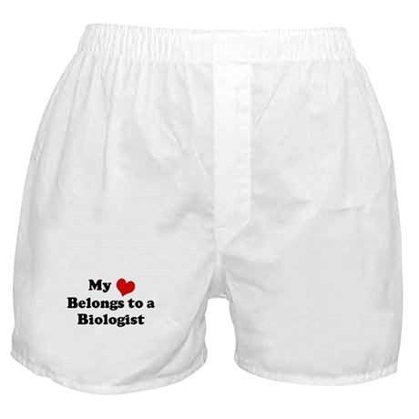 Heart Belongs: Biologist Boxer Shorts