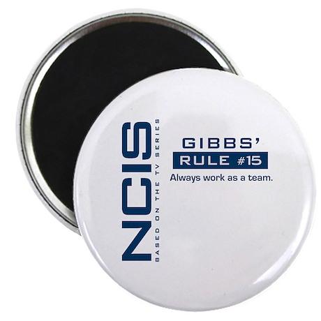 "NCIS Gibbs Rule #15 2.25"" Magnet (10 pack)"