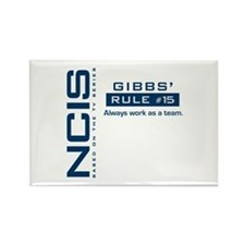 NCIS Gibbs Rule #15 Rectangle Magnet