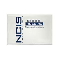 NCIS Gibbs Rule #15 Rectangle Magnet (100 pack)