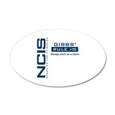 NCIS Gibbs Rule #15 22x14 Oval Wall Peel