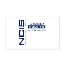 NCIS Gibbs Rule #15 Car Magnet 20 x 12