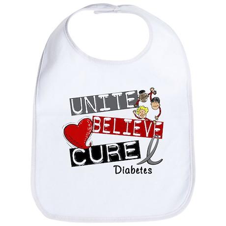 Unite Believe Cure Diabetes Bib