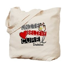 Unite Believe Cure Diabetes Tote Bag