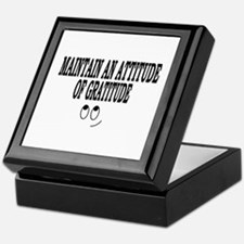 Maintain An Attitude Of Gratitude Keepsake Box