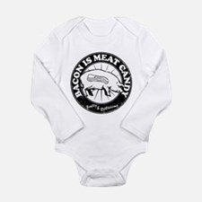 Bacon Is Meat Candy Long Sleeve Infant Bodysuit