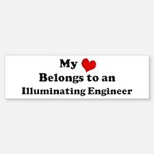 Heart Belongs: Illuminating E Bumper Bumper Bumper Sticker