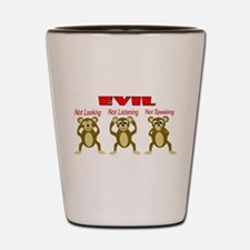Three Wise Monkeys Shot Glass