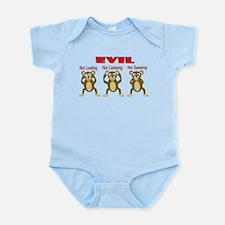 Three Wise Monkeys Infant Bodysuit