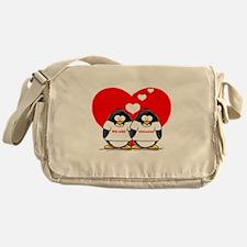 We Are Engaged Penguins Messenger Bag