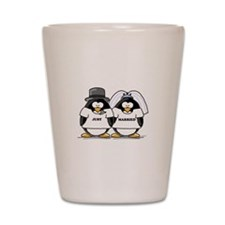 Just Married Bride and Groom Shot Glass